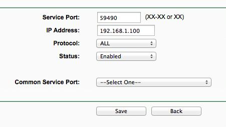 Ustawienia Forwardingu na routerze